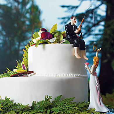 """Hooked On Love"" Groom Figurine"