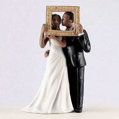 """Picture Perfect"" Couple Figurine - Dark Skin Tone"