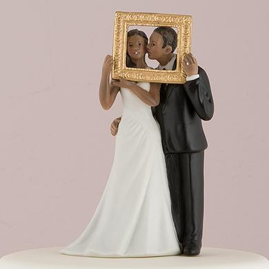 """""""Picture Perfect"""" Couple Figurine - Dark Skin Tone"""