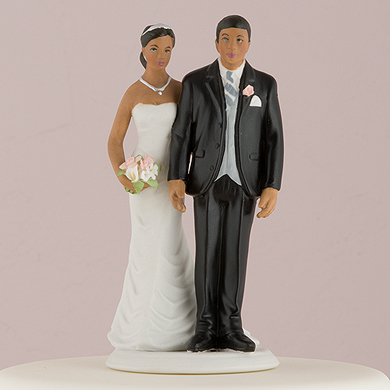 """The Love Pinch"" Bridal Couple Figurine - Ethnic Couple"