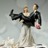 %22to have and to hold%22 bride holding groom figurine
