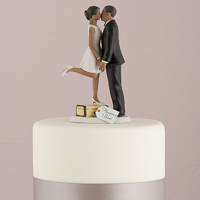 """A Kiss And We're Off!"" Figurine - Dark Skin Tone"