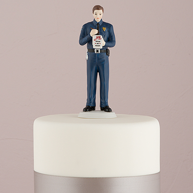 """A Love Citation"" Policeman Groom Figurine"