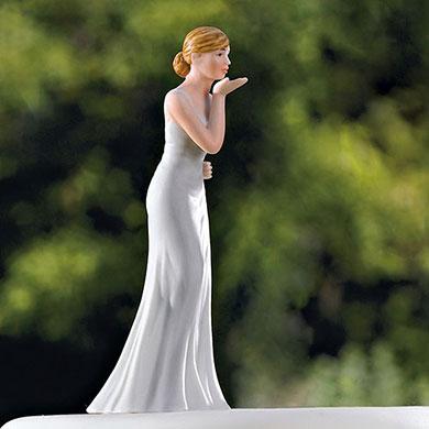 Bride Blowing Kisses Figurine