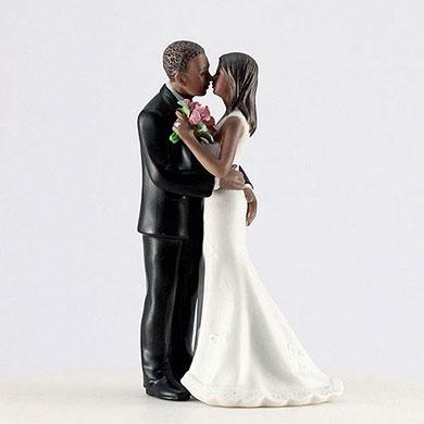 "Cheeky Couple Figurine ""My Main Squeeze"" - Dark Skin Tone"