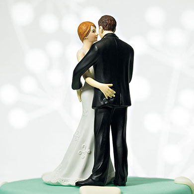 "Cheeky Couple Figurine ""My Main Squeeze"" - Dark Skin Tone"