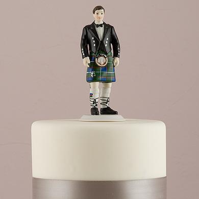 Groom In Kilt Figurine