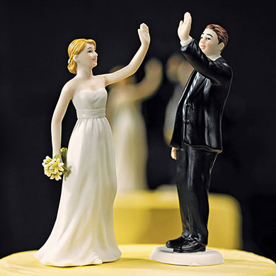 High Five Groom Figurine