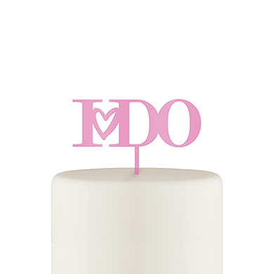 I Do Acrylic Cake Topper - Dark Pink