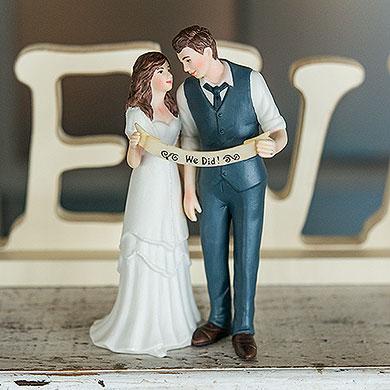 """Indie Style"" Wedding Couple Figurine"