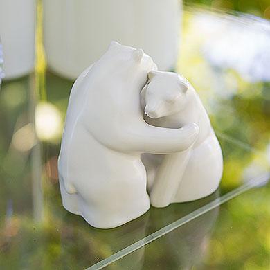 Interlocking Bear Hug Cake Topper Figurine Set