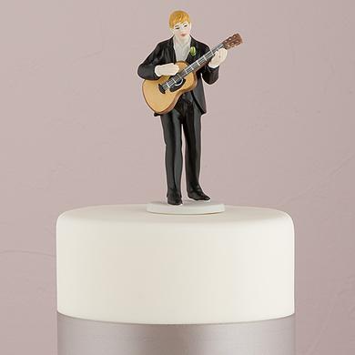 """""""Love Serenade"""" Guitar Playing Groom Figurine"""