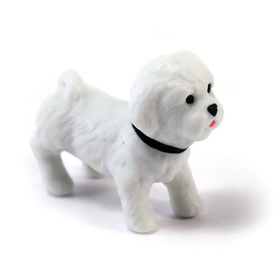 Miniature Bichon Frise Dog Figurines
