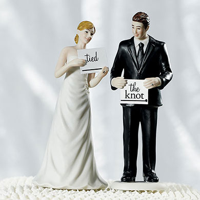 Read My Sign - Bride Figurine