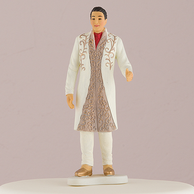 Traditional Indian Groom Figurine Cake Toppers