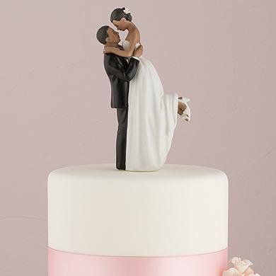 True Romance Couple Figurine - Dark Skin Tone
