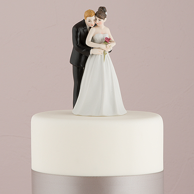 """""""Yes To The Rose"""" Bride And Groom Couple Figurine"""