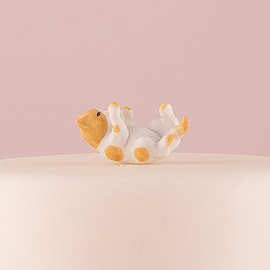 Cat Figurine - Orange and White