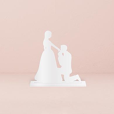 Cinderella Moment Silhouette Acrylic Cake Topper - White