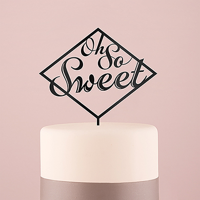 Oh So Sweet Acrylic Cake Topper - Black