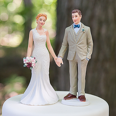 Woodland Groom Porcelain Figurine Wedding Cake Topper