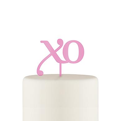 XO Acrylic Cake Topper - Dark Pink