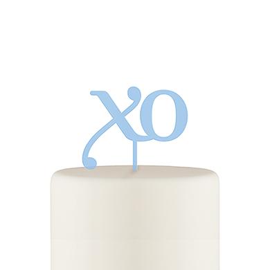 XO Acrylic Cake Topper - Pastel Blue
