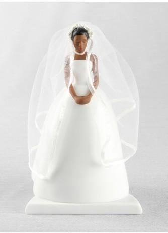 African - American Bride Cake Top