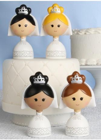Kokeshi Bride Figurines