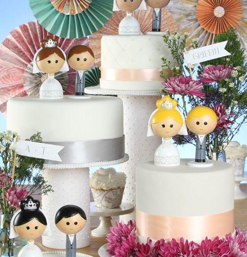 Kokeshi Cake Top Set