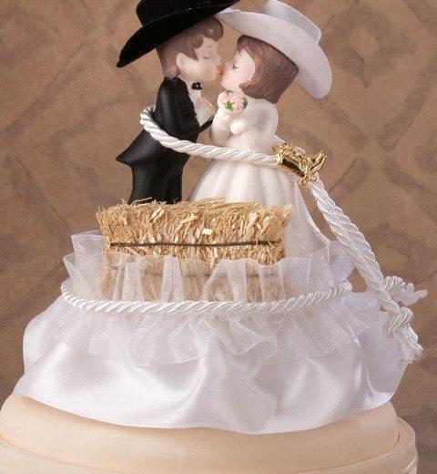 Western Hay Bale Cake Top