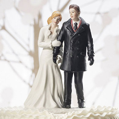 Winter Wonderland Wedding Couple Figurine