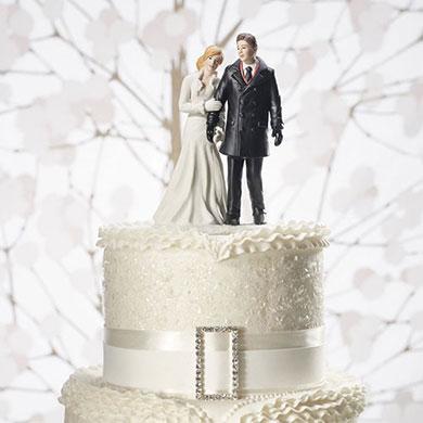 Winter Wonderland Wedding Couple Figurine2