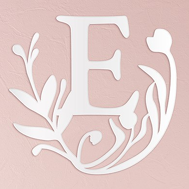 Modern Fairy Tale Acrylic Initial - White