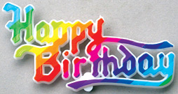 Birthday Rainbow Plaque