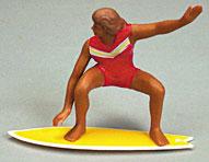 Surfer On Surfboard