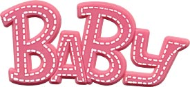 Pink Baby Plaque
