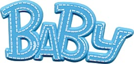 Blue Baby Plaque