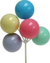 Pastel Balloon Cluster