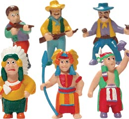 Cowboy And Indians Figurines