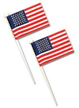White U.S. Flag Picks