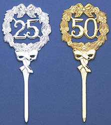 25th Silver Wreath Pick Large