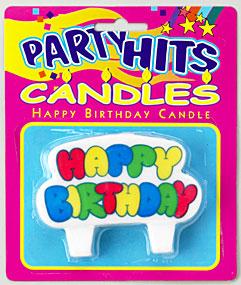 Big Happy Birthday Candle