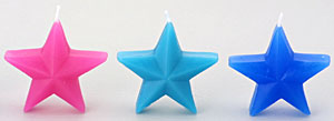 Cool Color Star Candles