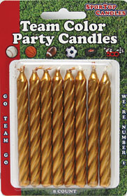 Team Color Candles Gold