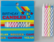 Striped Candles White