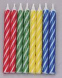 Brite Stripe Candles