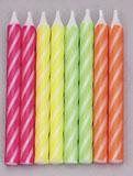 Neon Brite Stripe Candles