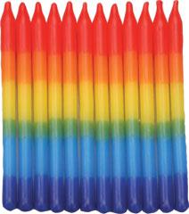 Tye-Dye Rainbow Candles