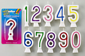 Number Candles # 3